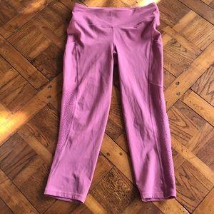Lululemon Ready to Race Crop leggings, pink/mauve